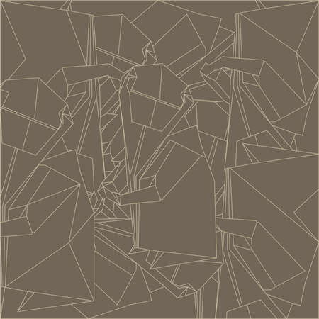 Pattern made of schemes origami in brown colors Vector