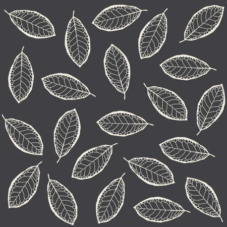 buff: Pattern of dry leaves Illustration