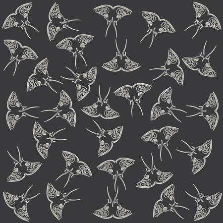 keen: pattern made of butterflies