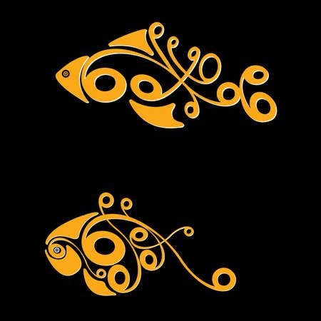 tail fin: Dos peces