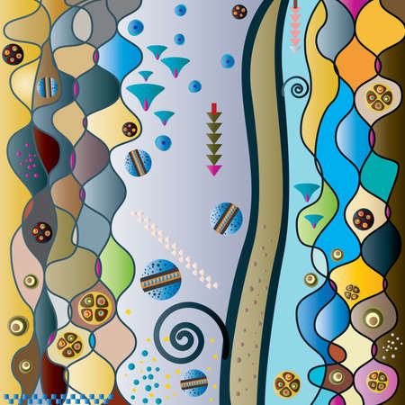 meandering: ornamental pattern Illustration