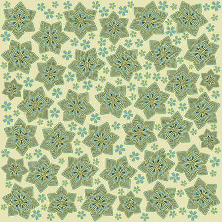 cyclamen: light green pattern