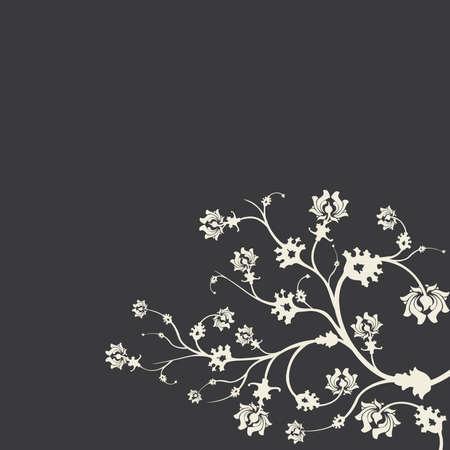 willekeurig: Witte struik op een grijze achtergrond