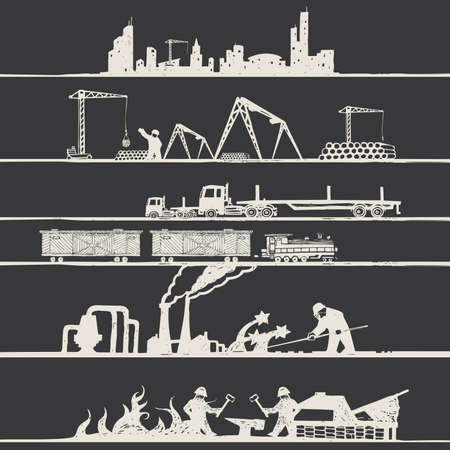 industrial theme Vector