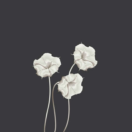 silken flowers Illustration