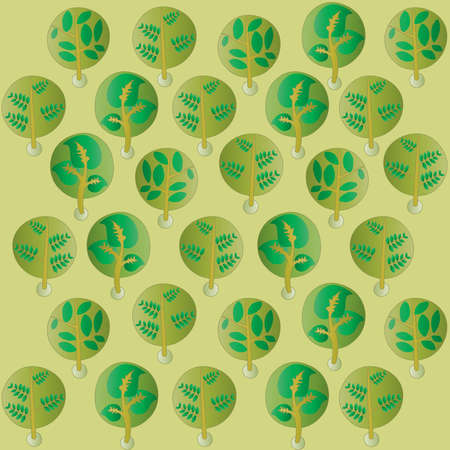 outage: forest in childs style green wallpapers