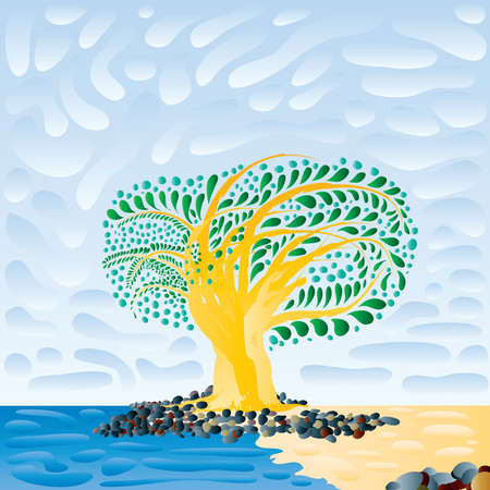 cloudiness: baobab Illustration