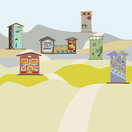 hillock: carretera en la aldea