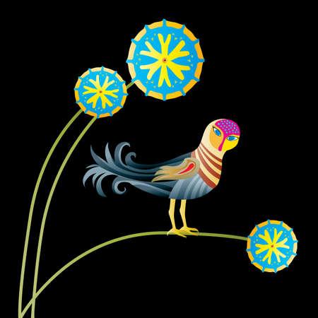 little Phoenix is met at night Stock Vector - 5167032