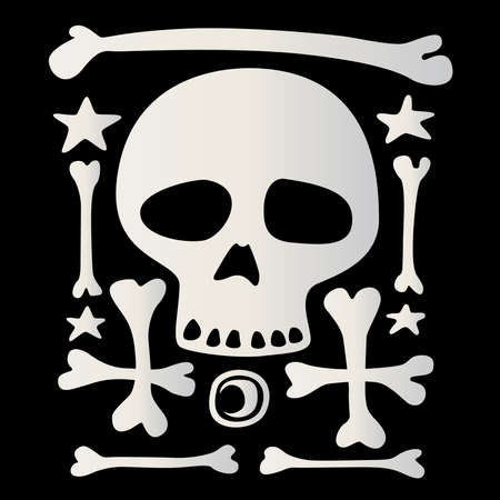 character of death on a black background Vector