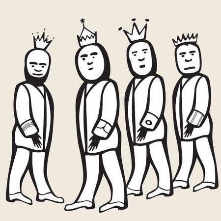 bald spot: return of four kings Illustration