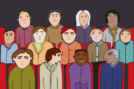 spectators: audience Illustration