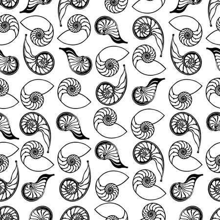 shell pattern: shells seamless pattern