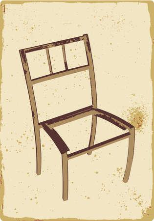 broken chair: old broken chair