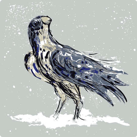 negligent: Falcon landed on a snow