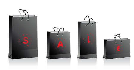 black shopping bags Stock Vector - 6207999