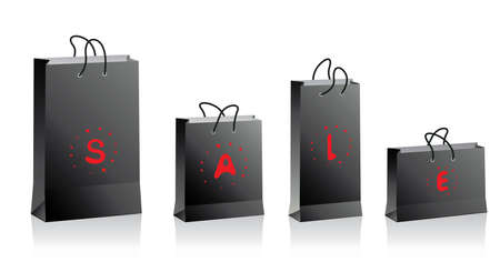 black shopping bags Stock Vector - 6207999