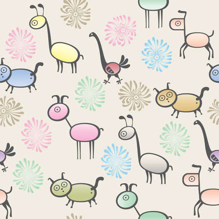 camelopard: toy animal seamless background