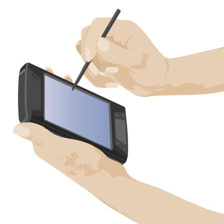 electronic organizer: palmtop Illustration