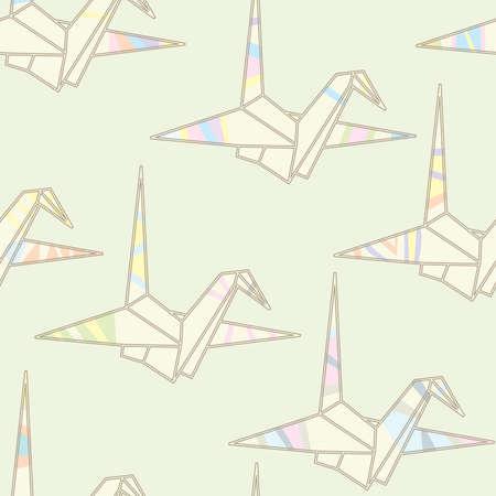 origami pattern: seamless striped origami pattern Illustration
