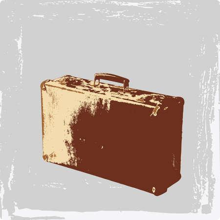 maleta Vintage Ilustración de vector