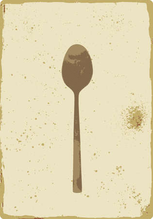 teaspoon: antiguo letrero de vintage cucharadita