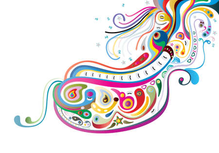 swirl elements a vector image