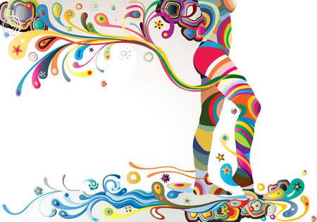 trajectoire: legs en bas par r�partition Illustration