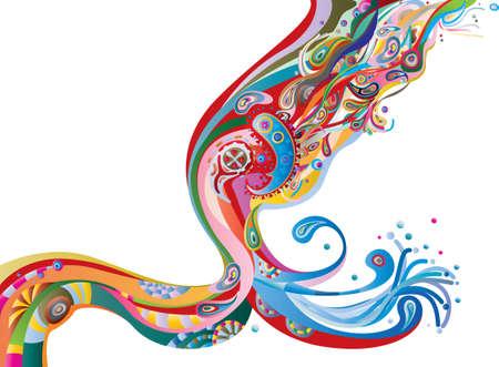 trajectoire: flux de couleur