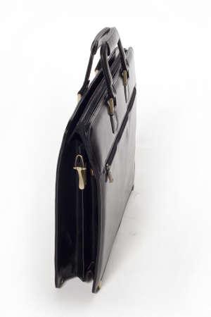 black briefcase: