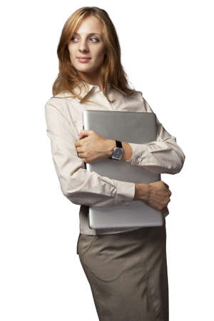 girl with a personal computer Stock Photo - 8014636