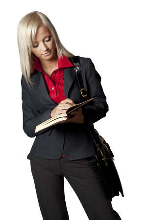 woman with a notebook photo