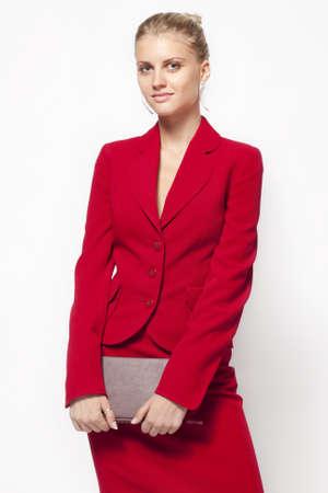 businesswoman suit: dama de rojo