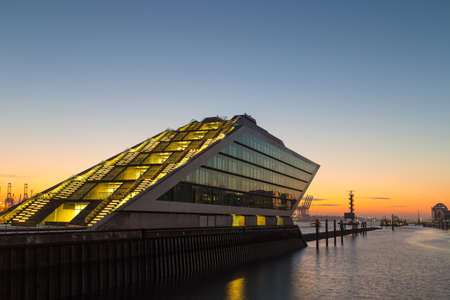 german north sea region: Landmark Dockland Office building in Hamburg Port