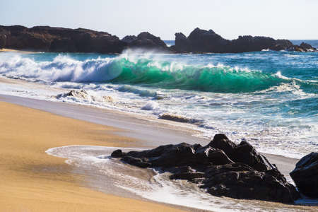 Huge Ocean Waves in Garrapata State Beach in Big Sur, California