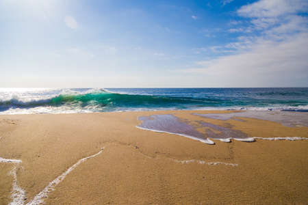 ocean state: Ocean Waves in Garrapata State Beach in Big Sur, California Stock Photo