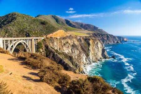 bixby: Landmark Bixby Creek Bridge in Big Sur, California Stock Photo