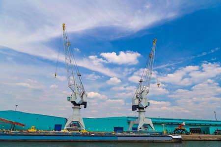 antwerp: Large container cranes in Port of Antwerp, Belgium