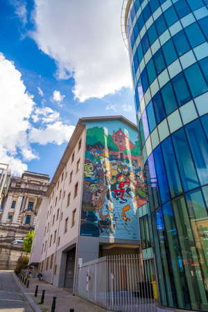 homeland: Brussels is known as a homeland of comic strips and is full of comic murals. Editorial