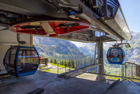 cable car: Cable car near Kandersteg in Switzerland