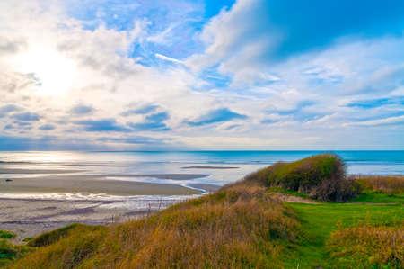pas: Coastline of the Opal Coast Cote dOpale in Pas de Calais, France