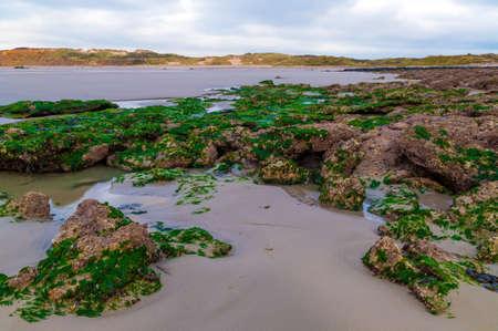 pas: Coastline of the Opal Coast (Cote dOpale) in Pas de Calais, France Stock Photo