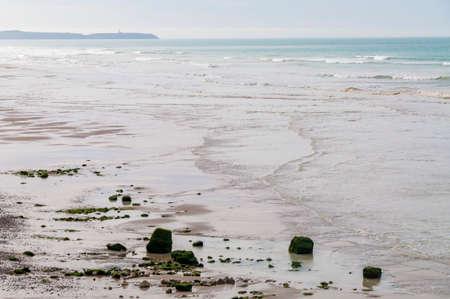 calais: Coastline of the Opal Coast Cote dOpale in Pas de Calais, France