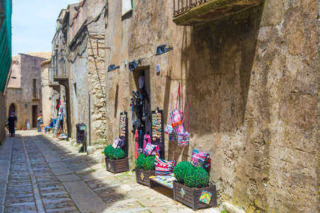 erice: Traditional Sicilian arts on display in Erice, Sicily, Italy