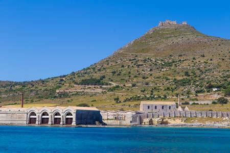 forte: Port of Favignana and Forte Santa Caterina castle, Sicily, Italy Editorial