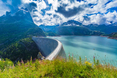 Dam at Lake Emosson near Chamonix (France) and Finhaut (Switzerland)