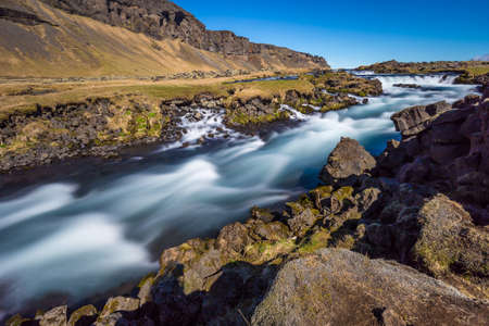 the magnificent: Roadside rapids near Foss � S��u, Iceland