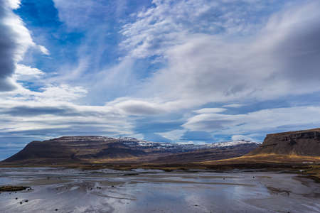 lenticular: Dramatic cloudscape in Westfjords, Iceland Stock Photo