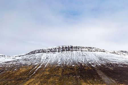 Scenic view of Westfjords, close to Sudavik village, Iceland