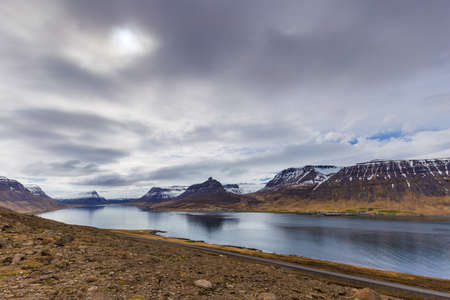 Scenic view of Westfjords, close to Sudavik village, Iceland